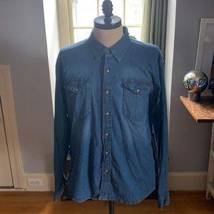 Wrangler Indigo Jean shirt.
